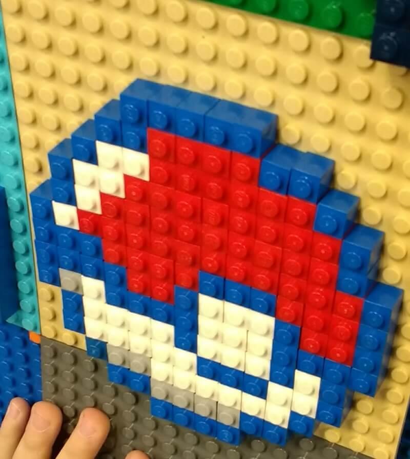 LEGO Pokeball pattern