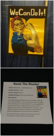 I never knew the history of the Rosie the Riveter poster! Super interesting, and cool LEGO rendition.