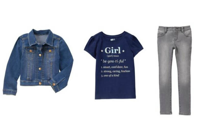 Girls' back-to-school outfits on sale at Crazy8