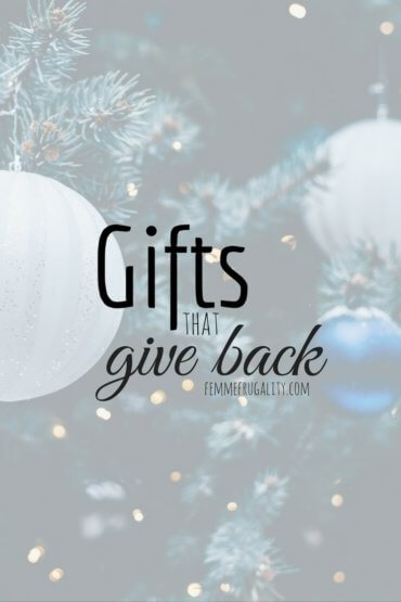 Loving this list of gifts that give back. Has some really creative ideas that never occured to me before. Now my Christmas shopping list will include something other than just charity donations!