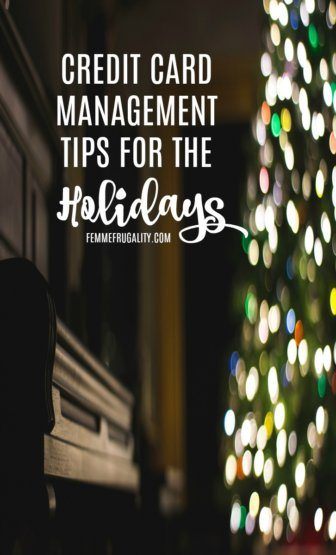 Some good tips for managing your credit card spending during the madness of holiday shopping.