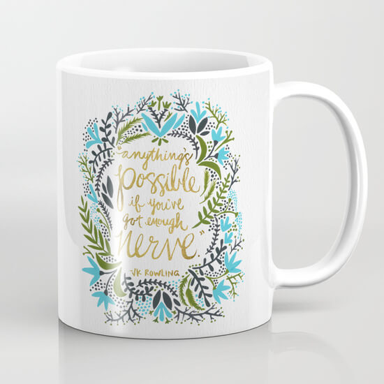JK Rowling quote coffee mug