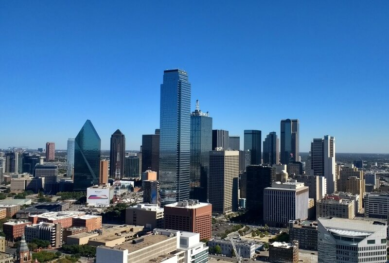 Dallas skyline from Reunion Tower GeO-Deck