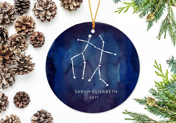 zodiac sign christmas ornaments