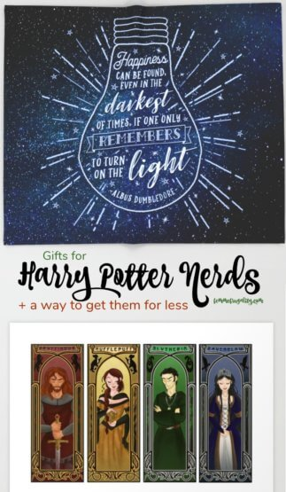 Totally crushing on these Harry Potter gifts. From Dumbledore to JK Rowling to Sirius Black quotes---swoon!