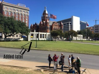 View from the grassy knoll.