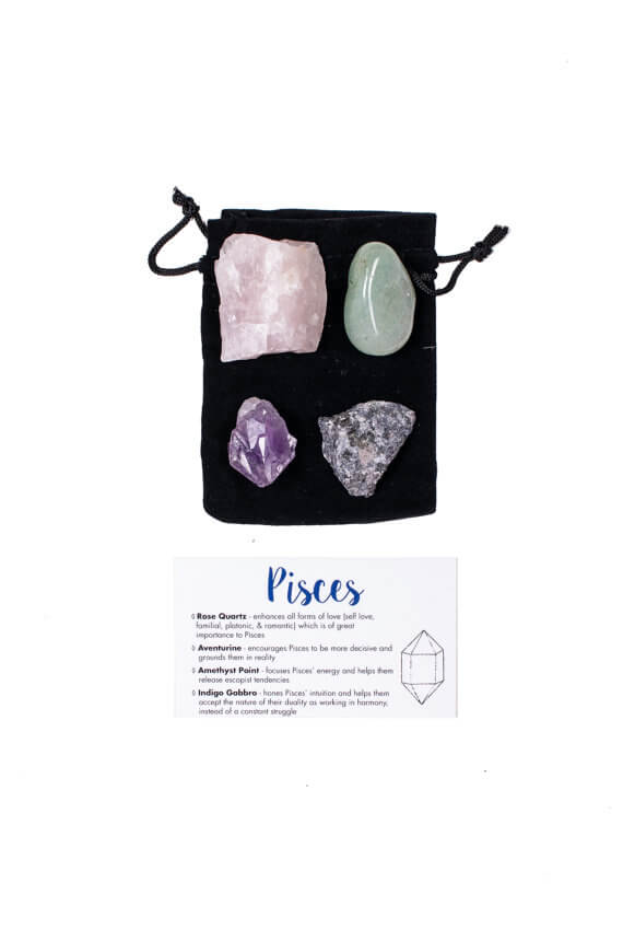 Crystal sets for each zodiac sign.