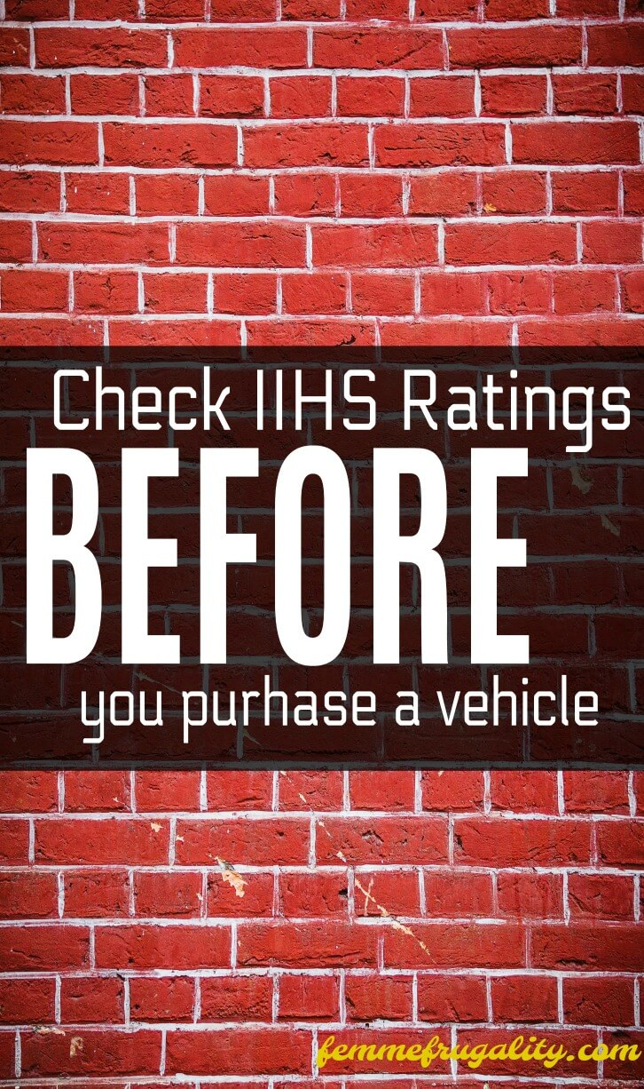 Talk about buyer's remorse! I didn't even know what IIHS ratings were, but now that I do I'm definitely checking them before I buy my next car.