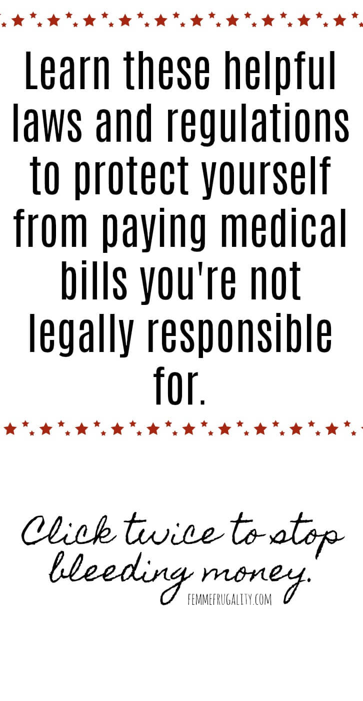 Oh, wow. There were so many of these protections I didn't know about. Going through my medical debt now to check and see if my health insurer has been doing any of these billing practices.