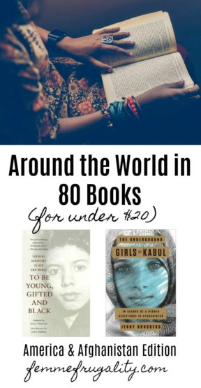 Love this series. She's exploring 80 cultures from around the world through reading 80 different books from diverse authors--and she's on track to do it all frugally for under $20.