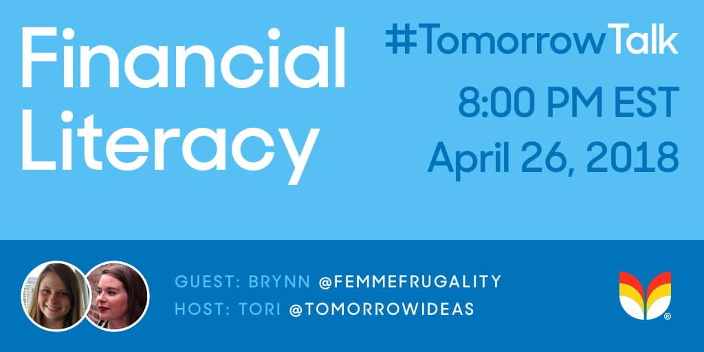 Financial literacy twitter chat