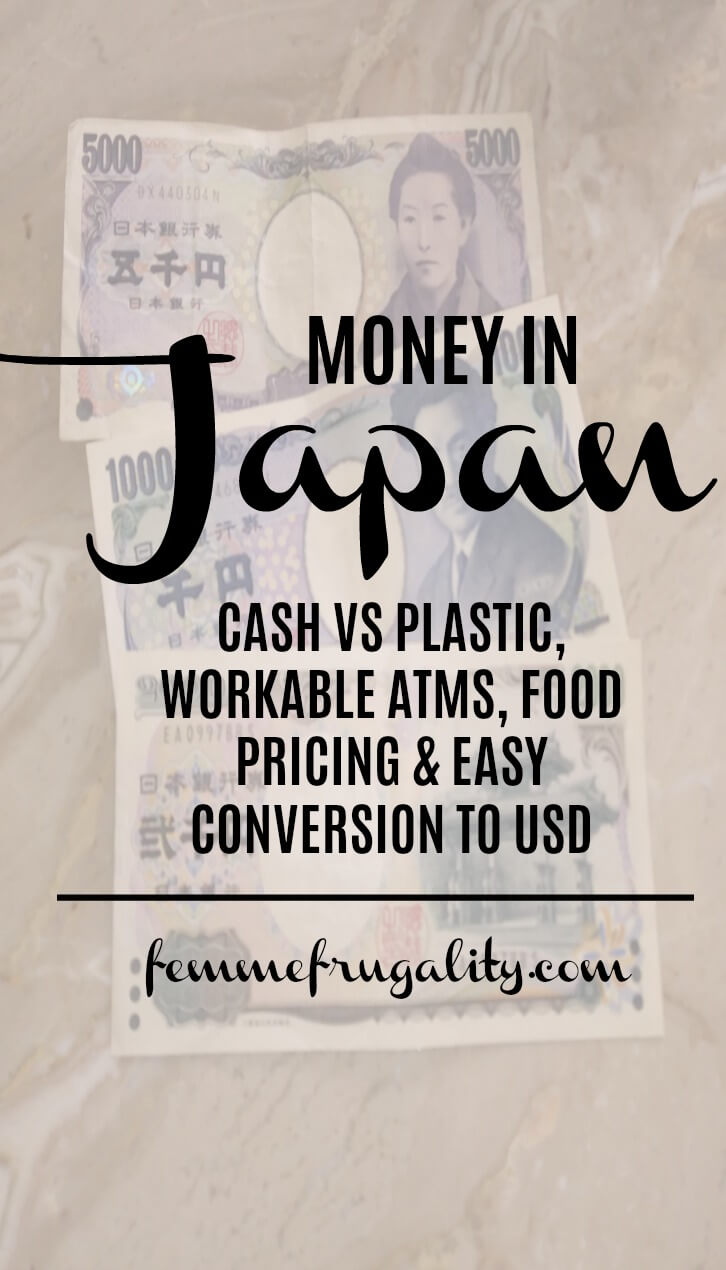 So glad I read this before I travel to Japan! Otherwise I wouldn't have brought enough cash--and then would have had trouble getting money out of an ATM!