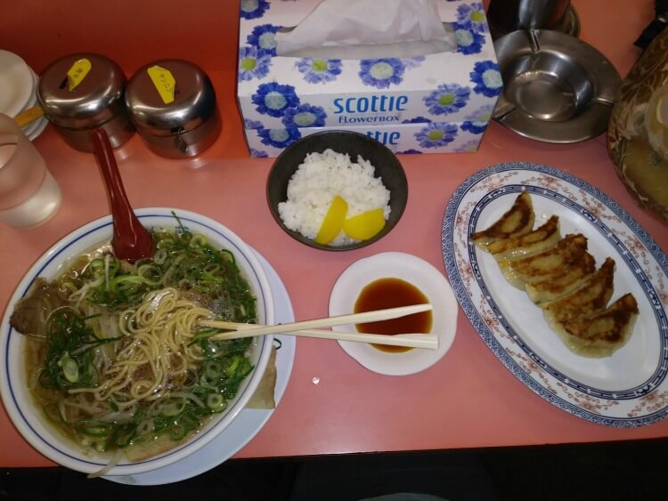 Delicious ramen and gyoza in Kyoto Japan