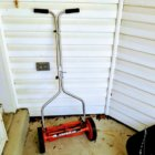 orange push mower