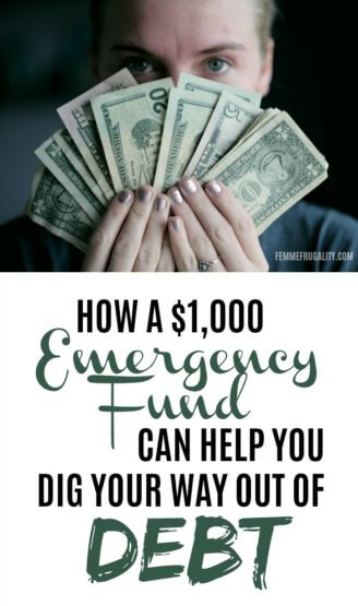 I wouldn't have thought this would be a good way to get out of debt, but now I'm totally building up this mini emergency fund.