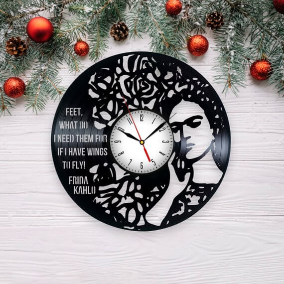 Frida Kahlo Clock