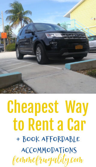 I had never heard of this trick before! She really did find the cheapest way to rent a car.