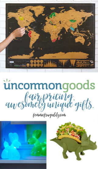 I LOVE Uncommon Goods. Did so much of my holiday shopping there this year!