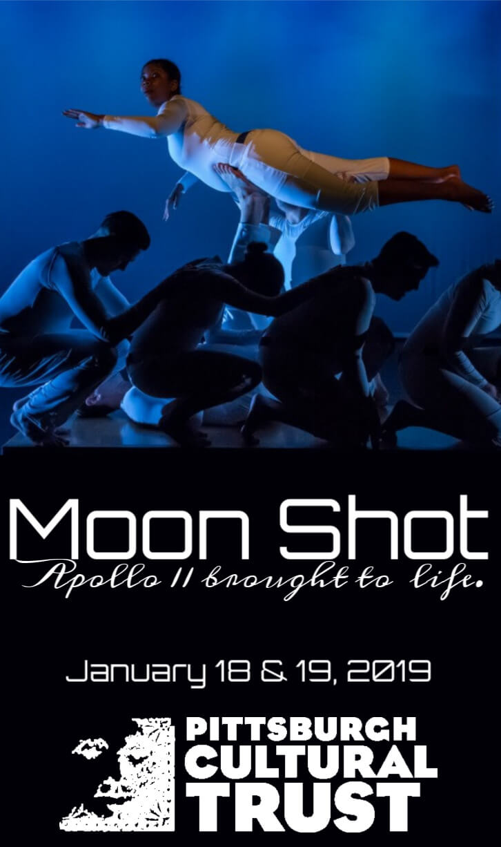 Whoa. These actors recreate the Apollo 11 mission using just their bodies. Definitely going to go see Moon Walk, and then head over to the Heinz History center to see the Columbia!