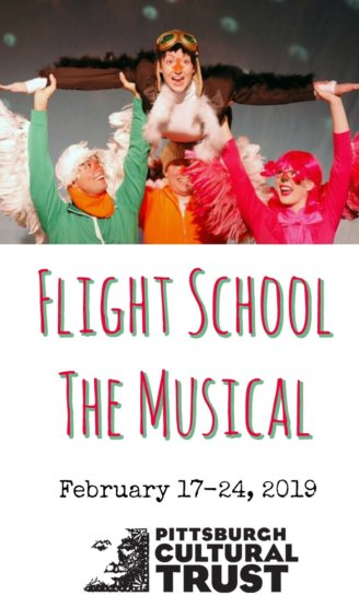 Flight School the Musical, a stage adaptation of Lita Judge's children's book. Coming to Pittsburgh February 17-24, 2019 brought to you by Pittsburgh Cultural Trust