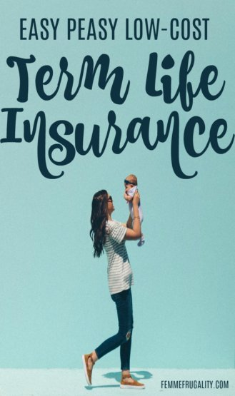 Such an important step when you become a mom--getting term life insurance!