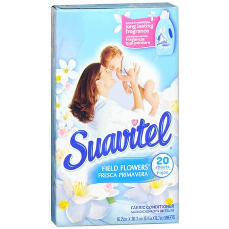 Suavitel field flowers scented dryer sheets